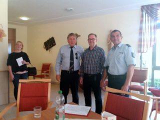 Wolfgang Kopp, Friedhelm Ashoff und Achim Pitzen setzen sich für mehr Sicherheit für Senioren im Ort ein.